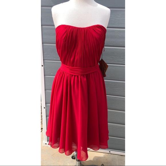 light in the box Dresses & Skirts - Light in the Box burgundy strapless formal dress